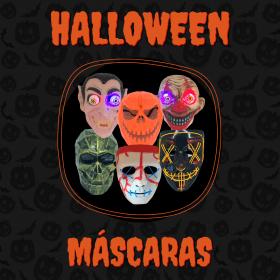 Banner Halloween Máscaras