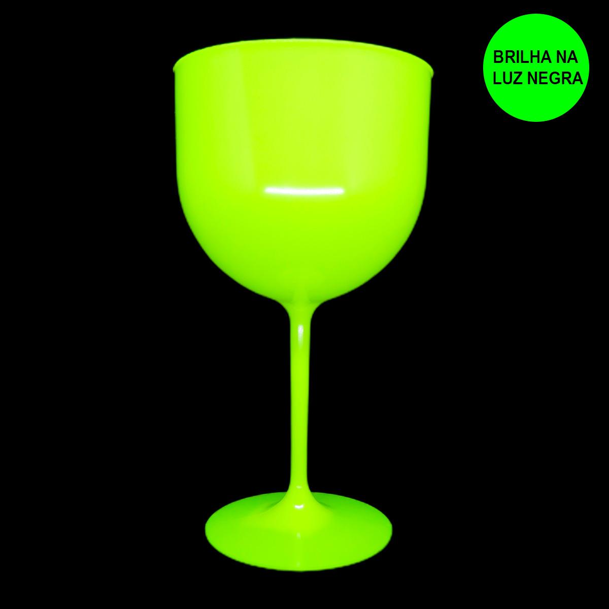 Taça Gin 600 ml Amarela Neon