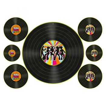 Kit Disco de Vinil - 7 peças