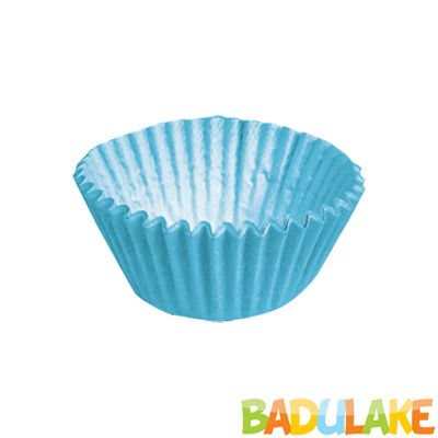 Forminha Lisa de Papel Número 4 Azul - 100 unidades