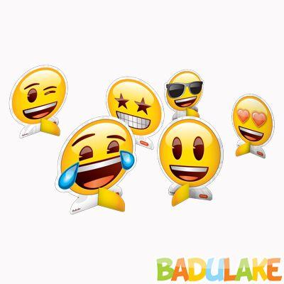 Decoração de Mesa Emoji - 8 unidades