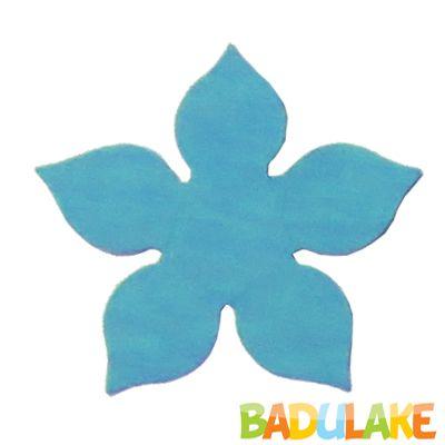 Forminha Flor para Doce Modelo 1 Azul Claro - 50 unidades