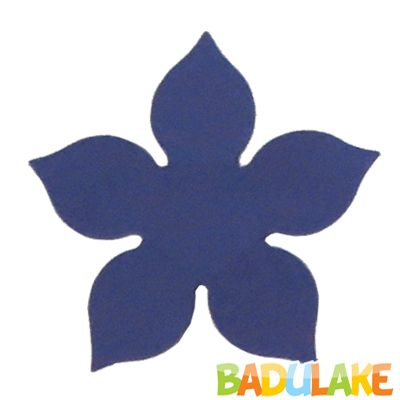 Forminha Flor para Doce Modelo 1 Azul Escuro - 50 unidades