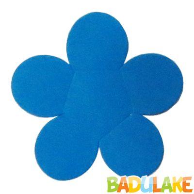 Forminha Flor para Doce Modelo 2 Azul Escuro - 50 unidades