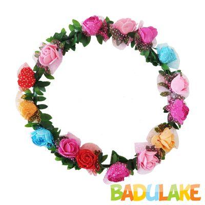 Coroa Flores Luxo Colorida