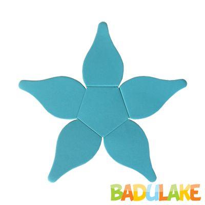 Forminha Flor para Doce Modelo 4 Azul Clara - 50 unidades