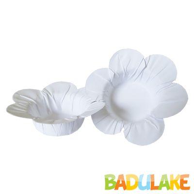 Mini Forminha Flor Scaranelo Branca - 50 unidades