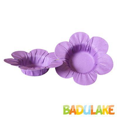 Mini Forminha Flor Scaranelo Lilás - 50 unidades