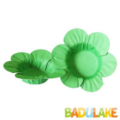 Mini Forminha Flor Scaranelo Verde Clara - 50 unidades