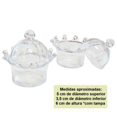 Mini Coroa para Lembrancinha Transparente - 10 unidades