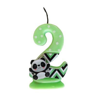 Vela Panda Número 2 Verde