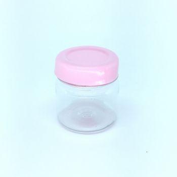 Potinho Geléia Plástico Redondo Rosa Claro - 10 unidades