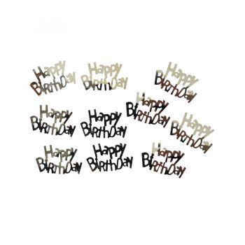 Confete Metalizado Happy Birthday Prata - 15g