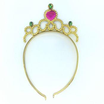 Tiara Coroa Princesa Dourada Kriat