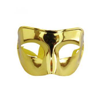 Máscara Metalizada Dourada