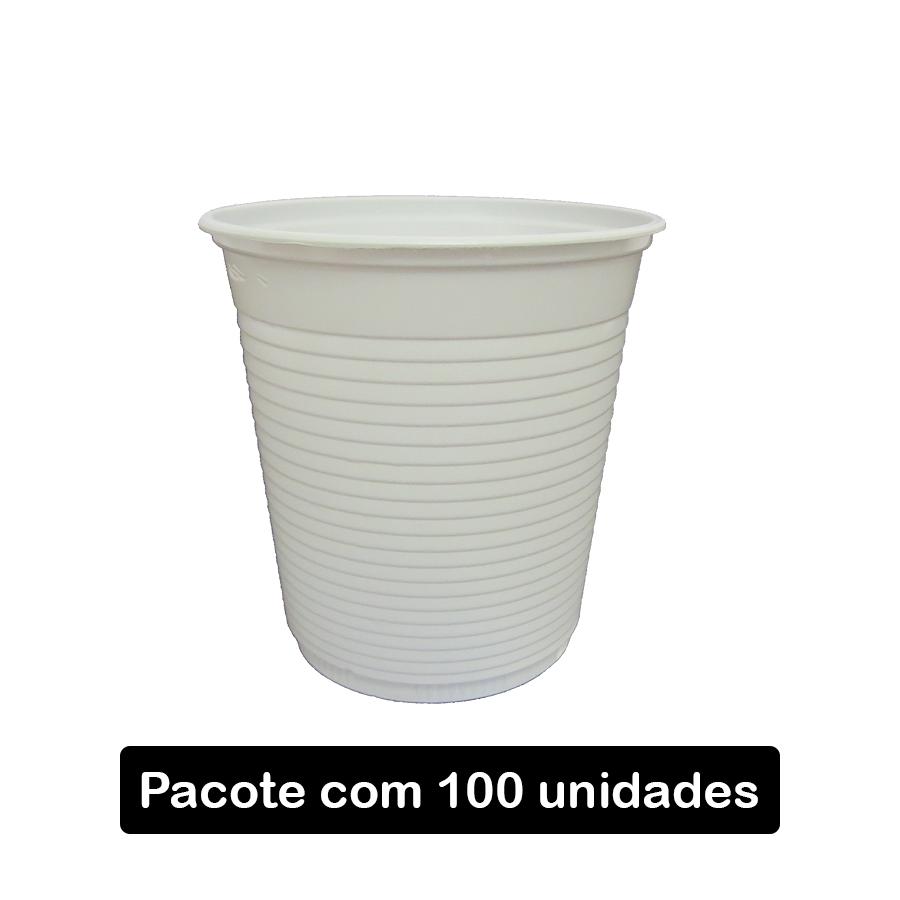 Copo Descartável 180 ml Branco - 100 unidades