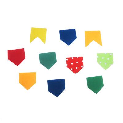 Aplique Decorativo Bandeirinhas Juninas Sortidas - 10 unidades