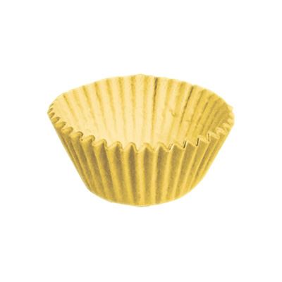 Forminha Lisa de Papel Número 4 Amarelo - 100 unidades