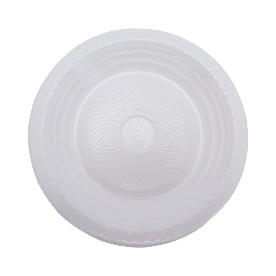 Prato de Bolo Descartável 15 cm Branco - 10 unidades