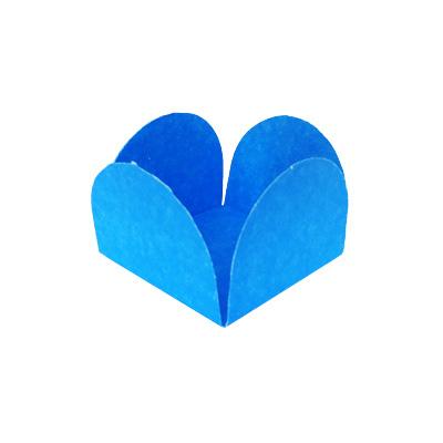 Forminha 4 Pétalas Lisa para Doce Azul Clara - 50 unidades