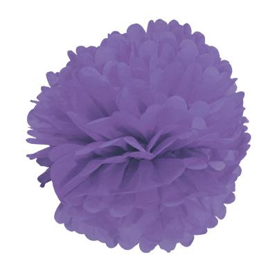 Balão Pompom de Seda Grande Lilás