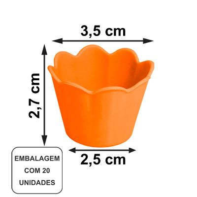 Mini Pote Girassol Laranja Flúor - 20 unidades