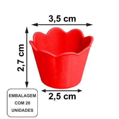 Mini Pote Girassol Vermelho - 20 unidades