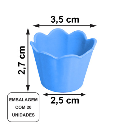 Mini Pote Girassol Azul Claro - 20 unidades