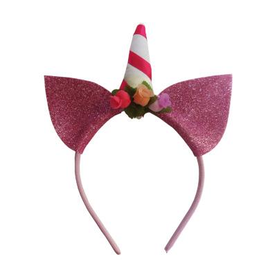 Tiara Unicórnio Glitter Rosa