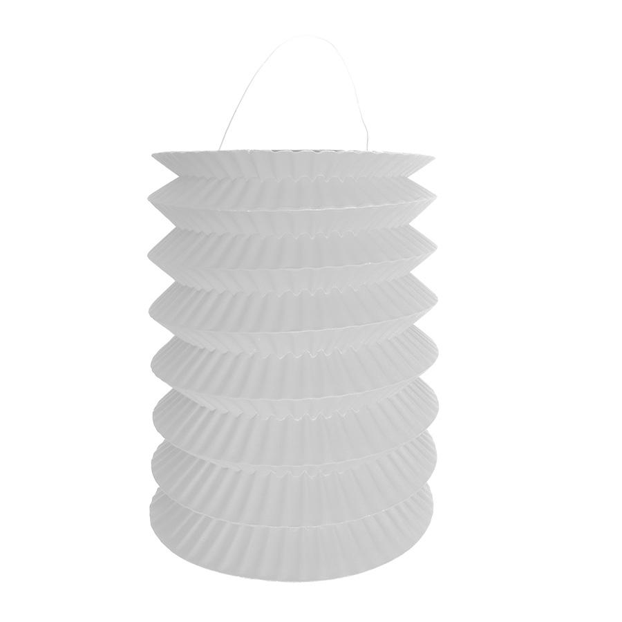 Lanterna Pequena Sanfonada Branca