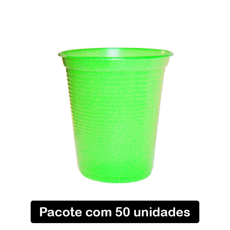 Copo Descartável Verde Claro C/50