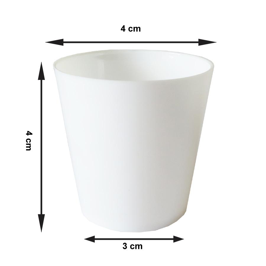 Copinho para Brigadeiro Branco 25 ml - 10 unidades