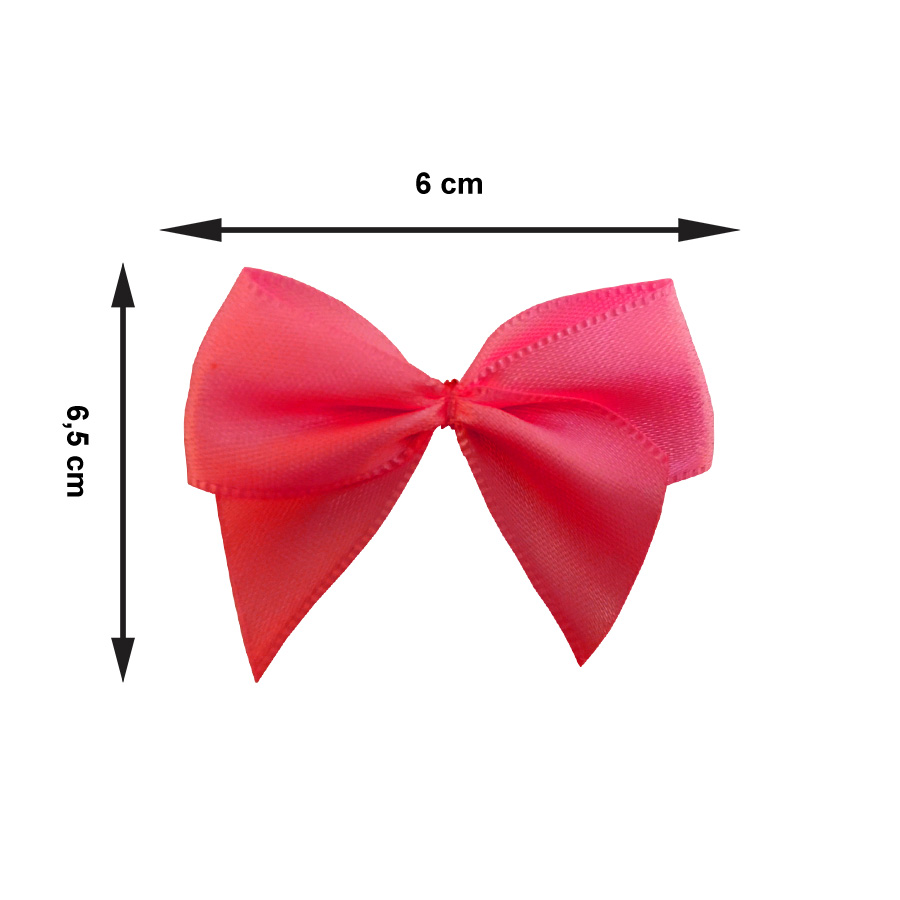Laço Cetim Pink - 10 unidades