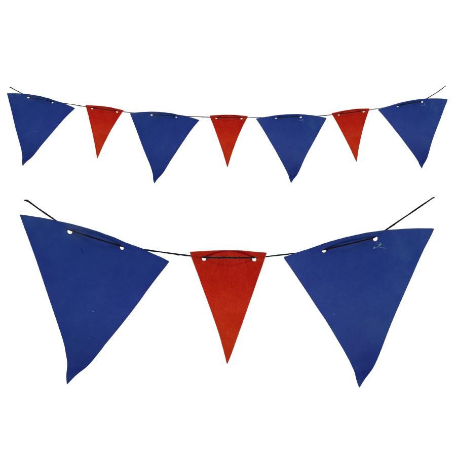 Bandeirola TNT Azul e Vermelha - 5 metros