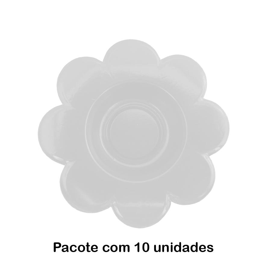 Forminha para Doce Flor Branca - 10 unidades