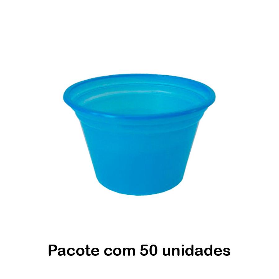Pote Descartável 150 ml Azul - 50 unidades