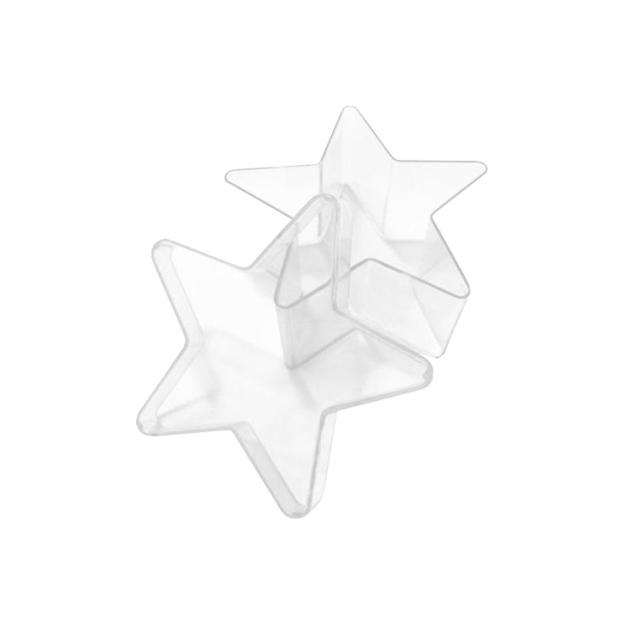 Caixinha Estrela Acrílica 7x7 cm - 10 unidades