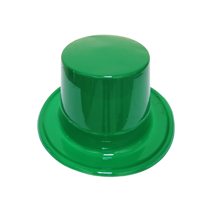 Cartola Mágico Plástica Verde Escura