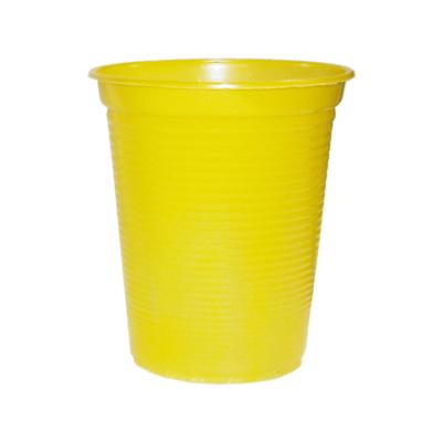 Copo Descartável 200ml Amarelo - 50 unidades
