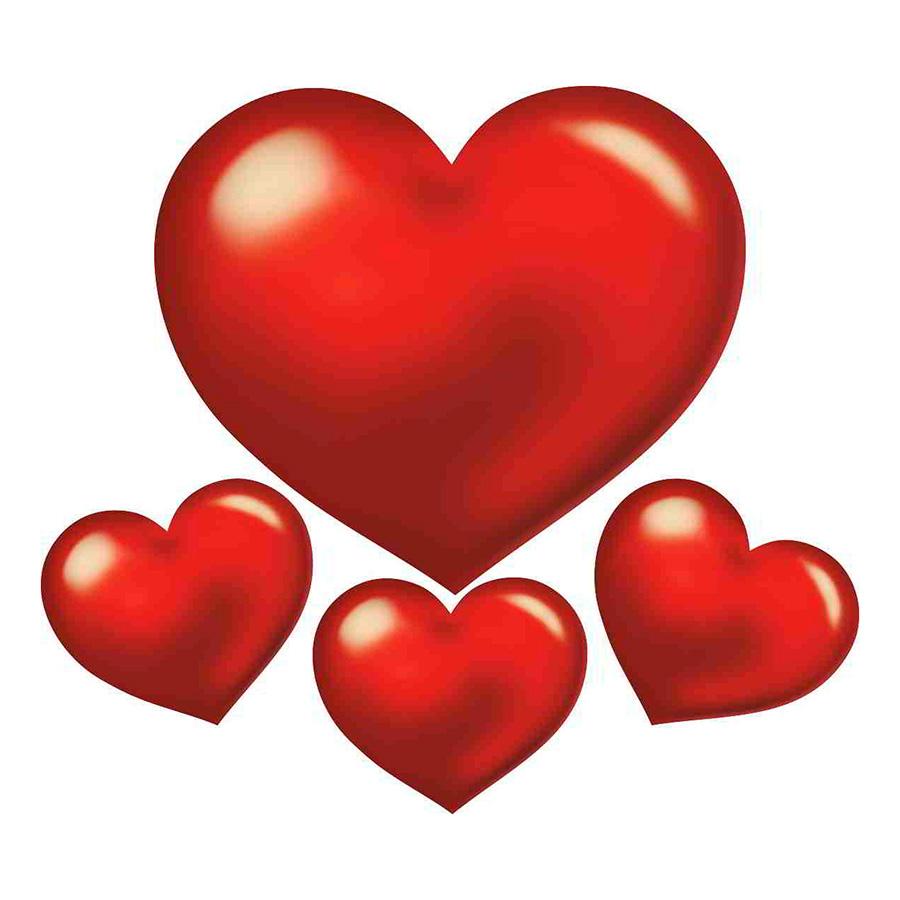 Kit Painel Coração Cartonado Liso - 4 unidades