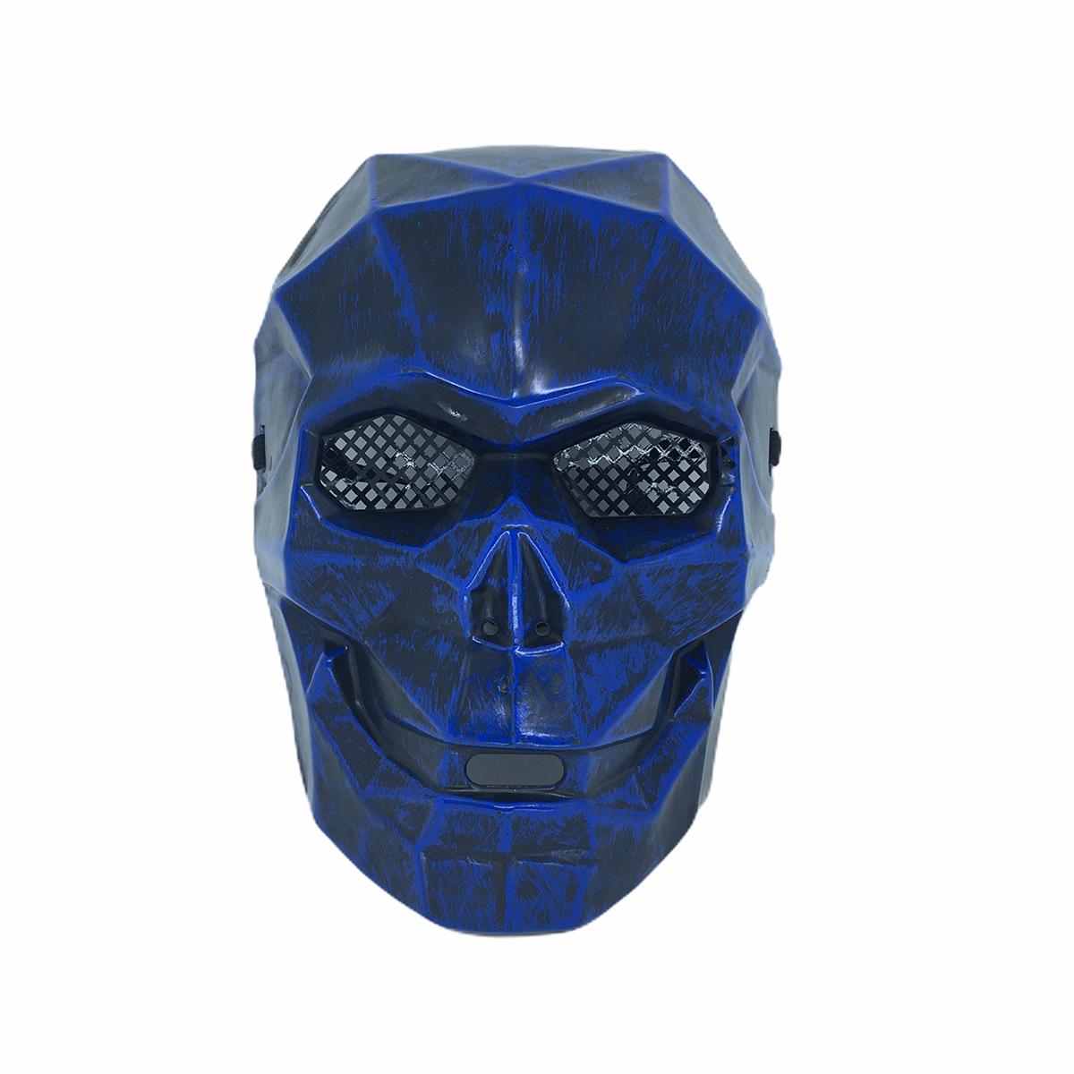 Máscara Caveira Diamante Halloween Azul