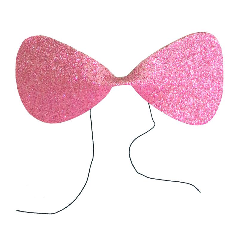 Gravata Borboleta Glitter EVA Rosa Ref. 132E