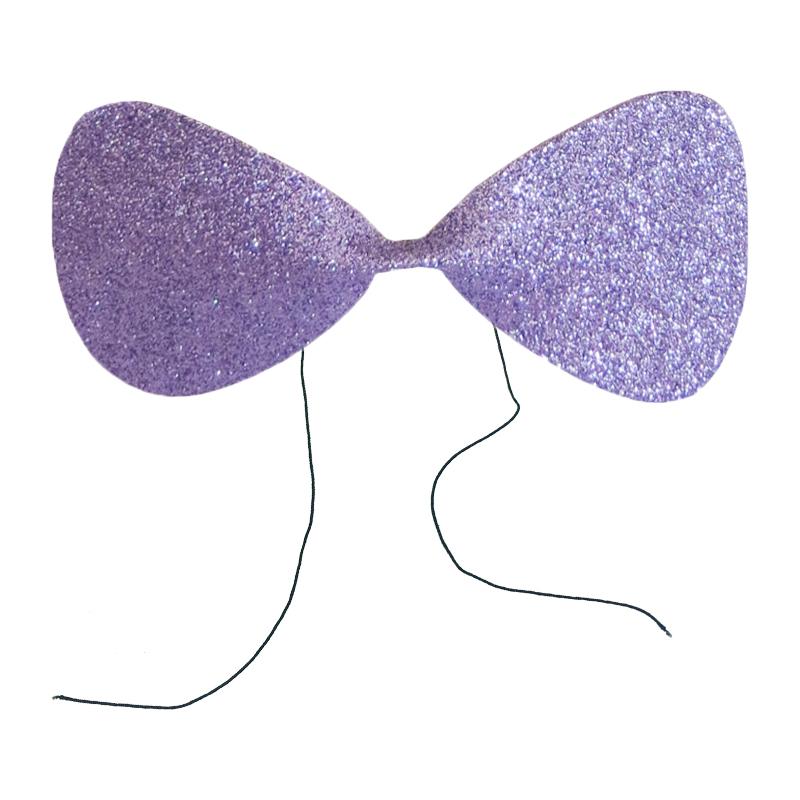 Gravata Borboleta Glitter EVA Lilás Ref. 132L