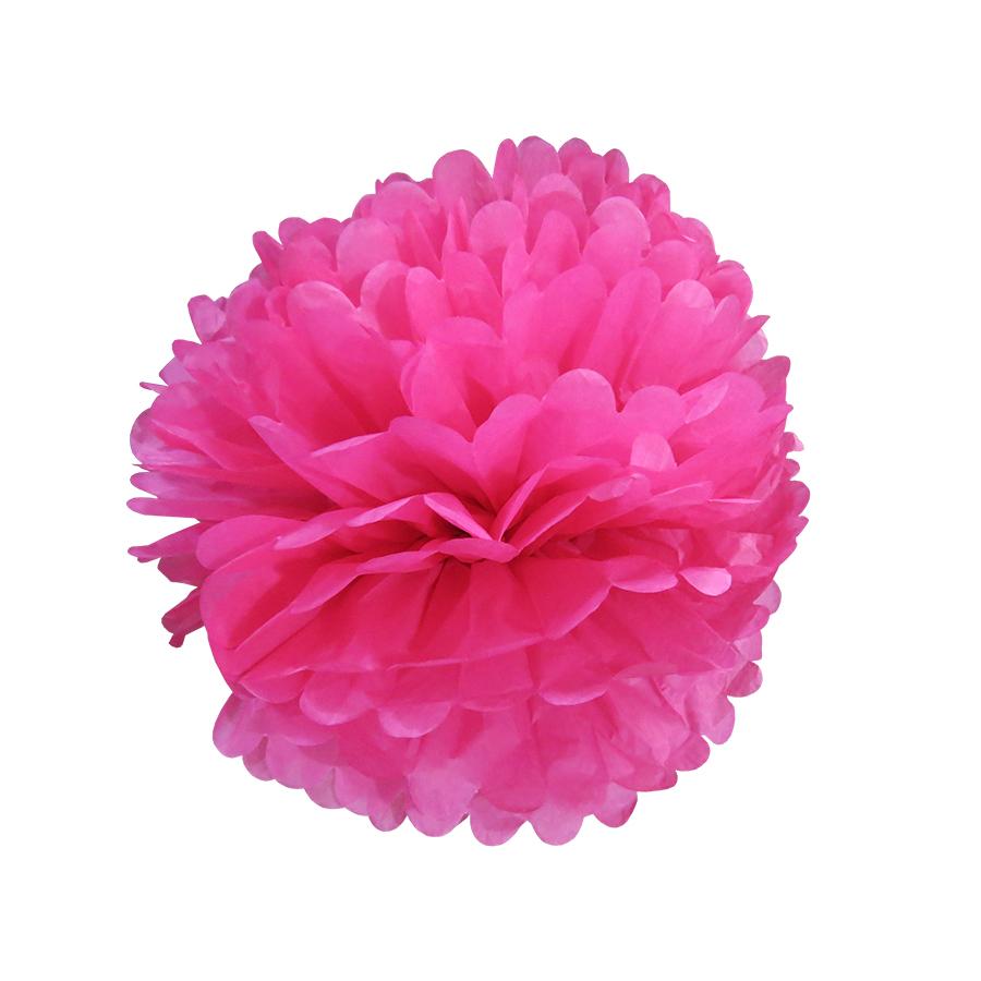 Balão Pompom de Seda Grande Pink