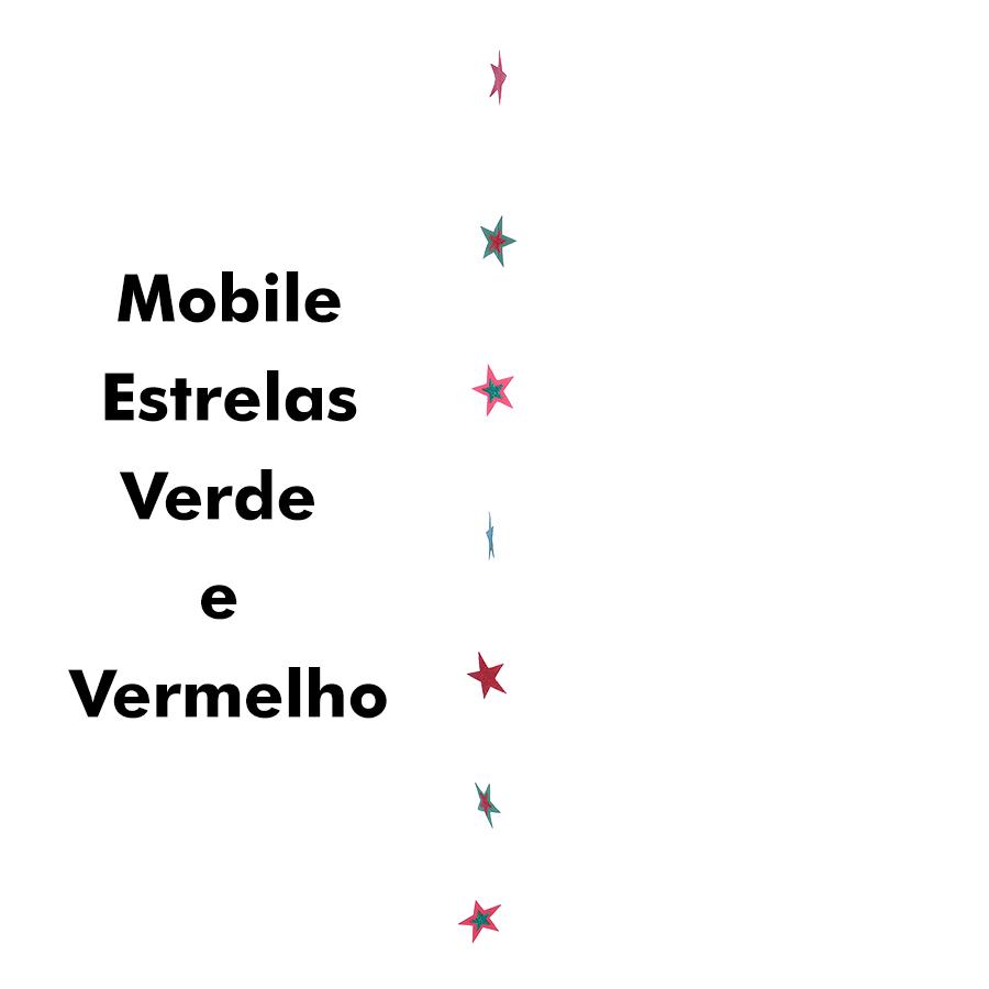 Mobile Estrelas Verde/Vermelha Glittter BDK Ref. 261A