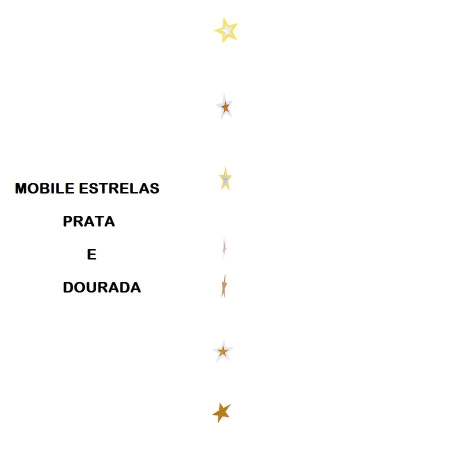 Mobile Estrelas Prata/Dourada Glittter BDK Ref. 261B