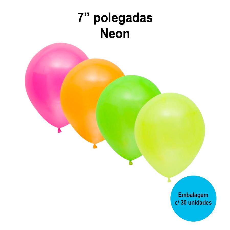 Balão Balloontech Neon 7'' Polegadas - 30 unidades