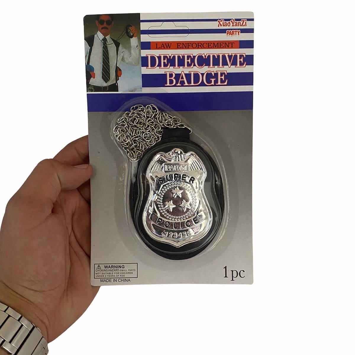 Distintivo Fantasia Policial Super Luxo