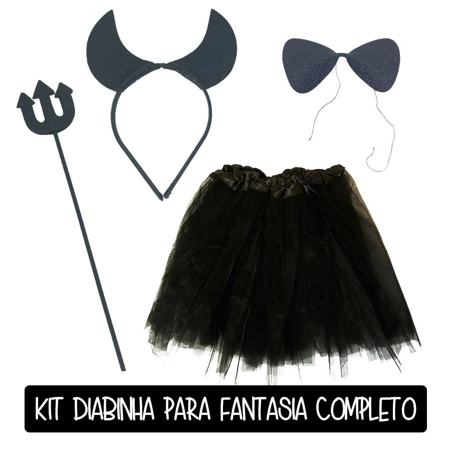 Kit Diabinha Preto Completo Carnaval Melhor Preço!
