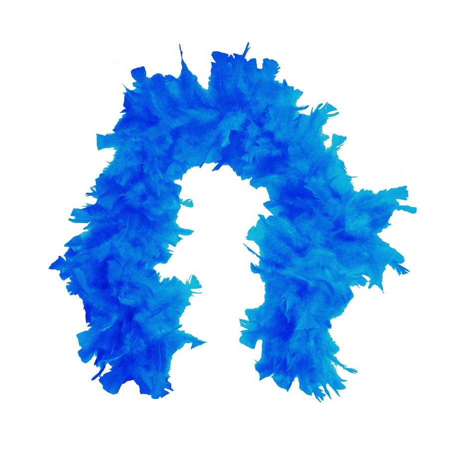 Estola Boá Grande de Penas Azul Turquesa